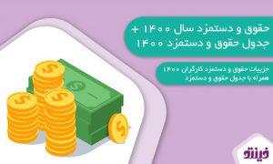 جدول حقوق و دستمزد 1400 و آخرین اخبار حقوق و دستمزد 1400